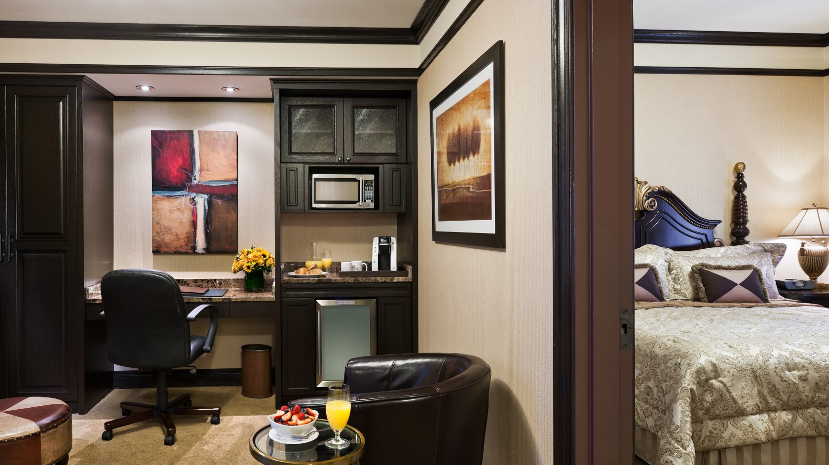 deluxe two bedroom family suite at The Lucerne Hotel in NYC
