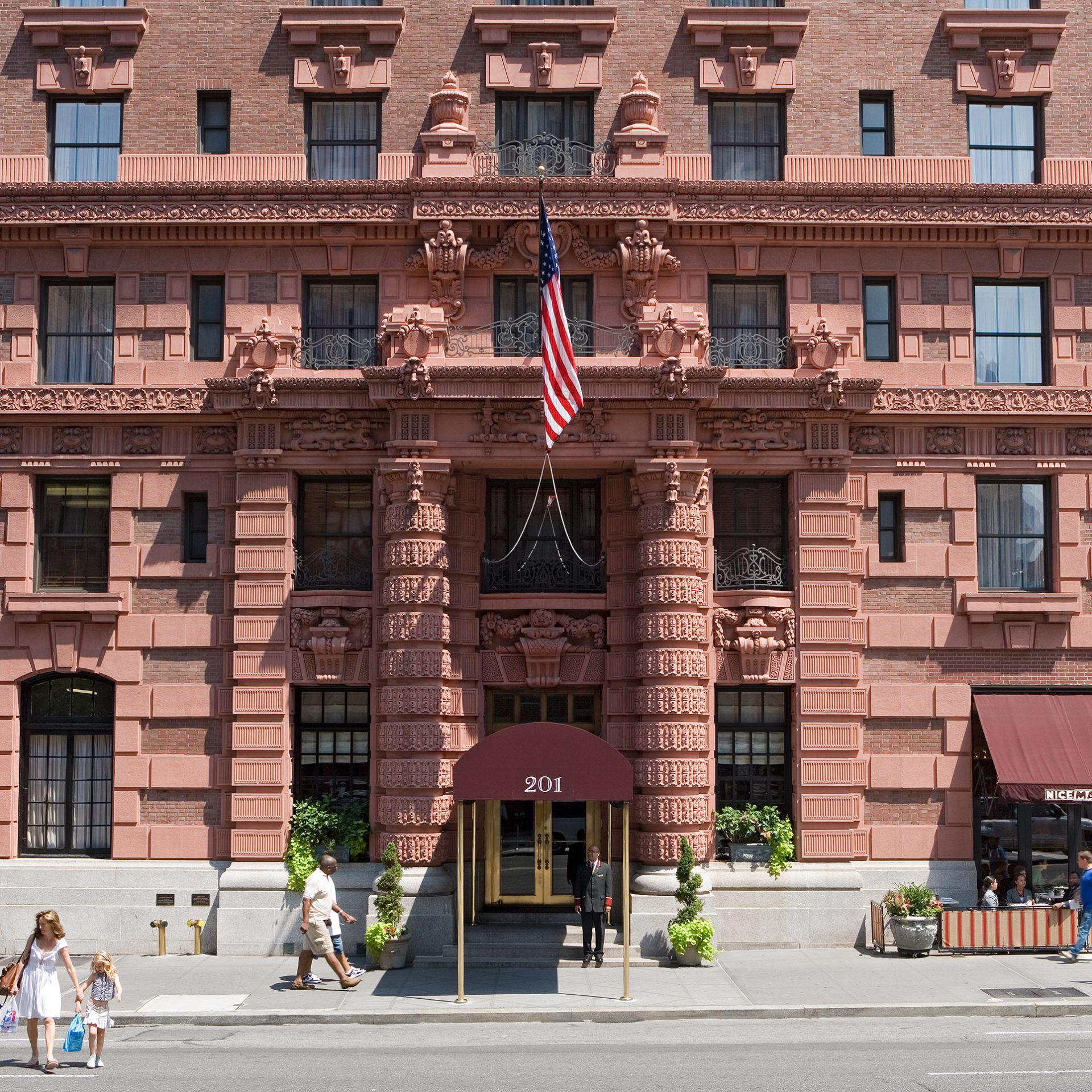 exterior view of The Lucerne Hotel in NYC