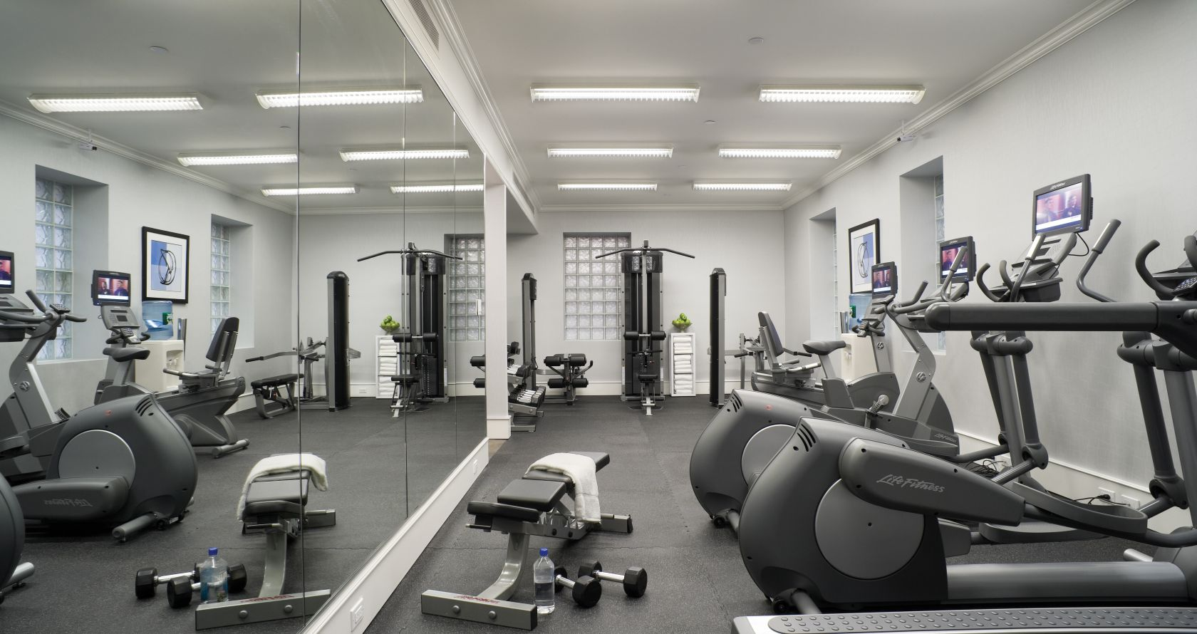 fitness center at The Lucerne Hotel